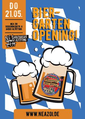 Werbeagentur Pokrant: Biergarten Plakatwerbung Portfolio von vorne