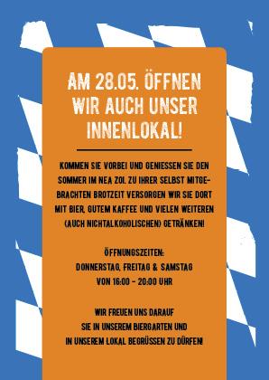 Werbeagentur Pokrant: Biergarten Plakatwerbung Portfolio von hinten